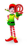 Elves character with at the rate symbol/sign Royalty Free Stock Images