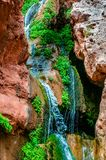 Elves Chasm Cascade. Elves Chasm is located in a side canyon off the Colorado River deep within the Grand Canyon stock images