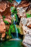 Elves Chasm Waterfall. Elves Chasm is located in a side canyon off the Colorado River deep within the Grand Canyon royalty free stock photo