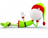 Elves for christmas. 3d Elves is saying hi royalty free illustration