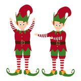 Elves collection isolated on white background stock illustration