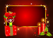 Elves coming out gift box Stock Images