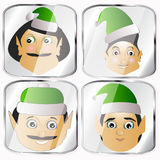 The elves a couple different lot button key to press  click the usual clumsy coarse. The elves a few icon  normal clumsy rough on a white background to separate Stock Photos