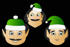 The elves a few icon  normal clumsy brute on  black background to separate easily. Elf icon simple natural Christmas on black background Stock Photography