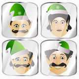 The elves a few icon  normal clumsy rough on  white background to separate easily. The elves a few icon  normal clumsy rough on a white background to separate Stock Photos