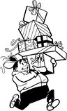 Elves with gifts cartoon Vector Clipart Royalty Free Stock Photos