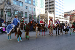 Elves on Horses in Parade Royalty Free Stock Images