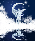 Elves Misty angel stock photography