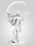 Elves Misty Angel. On white Royalty Free Stock Photo