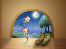 The elves and the shoemaker: COVER Royalty Free Stock Photography