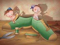 The elves and the shoemaker 19 Royalty Free Stock Image
