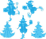 Elves Silhouettes Royalty Free Stock Images
