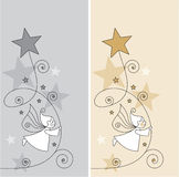 Elves and stars Stock Photo