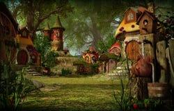 Elves Town, 3d CG royalty free illustration