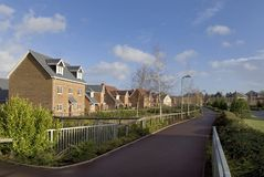 Elvetham housing estate Stock Image