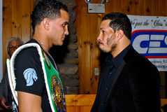 Elvin Ayala et Hector Camacho, JR. Photos stock
