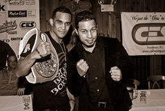 Elvin Ayala and Hector Camacho, Jr. Royalty Free Stock Photo