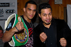 Elvin Ayala and Hector Camacho, Jr. Stock Images