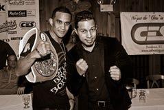 Elvin Ayala y Hector Camacho, JR. foto de archivo libre de regalías