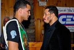 Elvin Ayala y Hector Camacho, JR. fotos de archivo