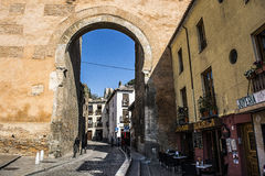 Elviras门,格拉纳达,西班牙 免版税库存照片