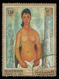 Elvire que está por Amedeo Modigliani Imagem de Stock
