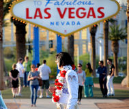 Elvis à Las Vegas Photos libres de droits