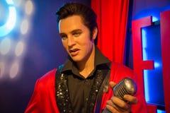 Elvis Aaron Presley en el museo de señora Tussauds fotos de archivo