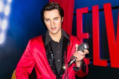 Elvis Presley, wax statue, Madame Tussaud`s Amsterdam stock photo