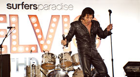 Elvis is  alive Stock Images