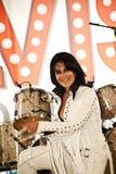 Elvis Birthday Party. Unidentified singer performs as Elvis Presley stock photos