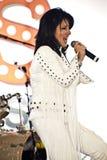 Elvis Birthday Party. Unidentified singer performs as Elvis Presley stock photo