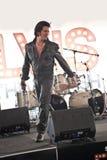 Elvis Birthday Party. Unidentified singer performs as Elvis Presley stock images