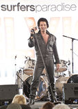 Elvis Birthday Party. Unidentified singer performs as Elvis Presley stock photography