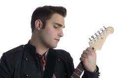 Elvis con la chitarra Immagine Stock