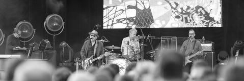 Elvis Costello & Imposters на центральном Park's SummerStage - 6/15/2017 стоковое фото
