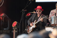 Elvis Costello & The Imposters at Central Park's SummerStage - 6/15/2017 Royalty Free Stock Images