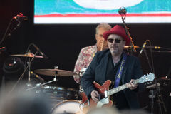 Elvis Costello & The Imposters at Central Park's SummerStage - 6/15/2017 Royalty Free Stock Photo