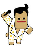 Elvis do Blockhead Fotos de Stock Royalty Free