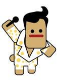 Elvis do Blockhead ilustração royalty free