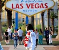 Elvis en Las Vegas Fotos de archivo libres de regalías