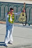 Elvis impersonator Royaltyfri Bild