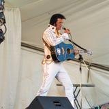 Elvis impersonator Arkivbilder
