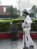 Elvis impersonator in Las Vegas in Nevada USA Stock Images