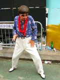 Elvis impersonator at Notting Hill Carnival in London stock images