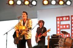 Elvis is in leven royalty-vrije stock afbeeldingen