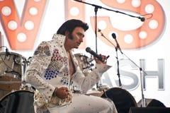 Elvis is in leven stock afbeeldingen