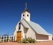 Elvis Memorial Chapel. At the Superstition Mountain Museum in Apache Junction, Arizona stock image