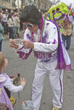 Elvis Offers Mardi Gras Beads Royalty Free Stock Image