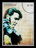 elvis opłata pocztowa presely znaczek ilustracja wektor